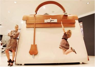Giant Hermes Kelly Kellydoscope Handbag Bag Selfridges