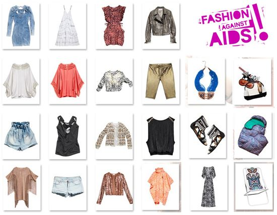 H and m fashion against aids festival collection