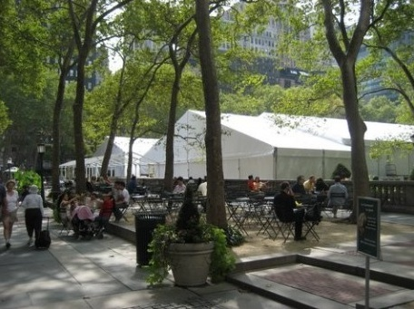 Tents at bryant park