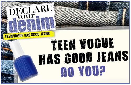 Essie teen vogue declare your denim