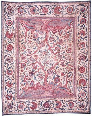 Tye die exhibit rug