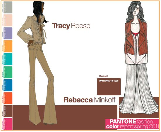 Pantone fashion color report spring 2011 russet