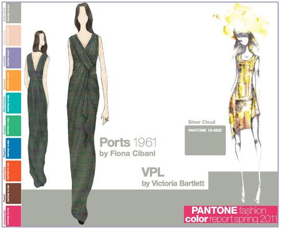 Pantone fashion color report spring 2011 grey gray silver cloud