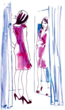 Dressing room illustration
