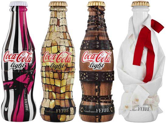 Gianfranco ferre diet coke coca cola light bottles