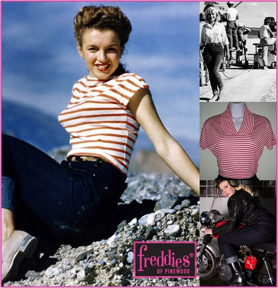 Freddies of pinewood marilyn monroe retro jeans denim
