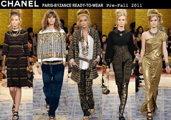 Chanel pre fall 2011 byzantium byzance