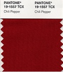 Pantone color of the year 2007 chili pepper red