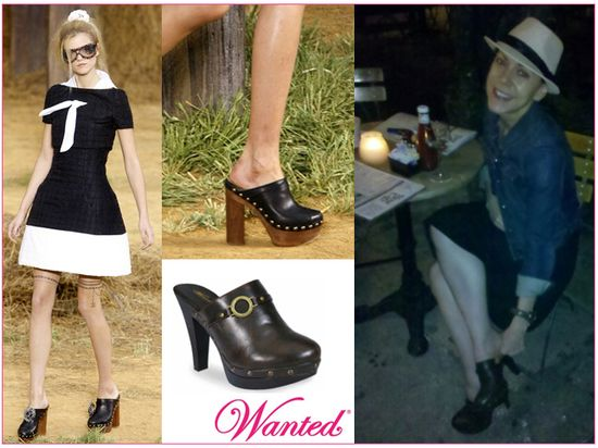 Wanted chanel high heel clogs