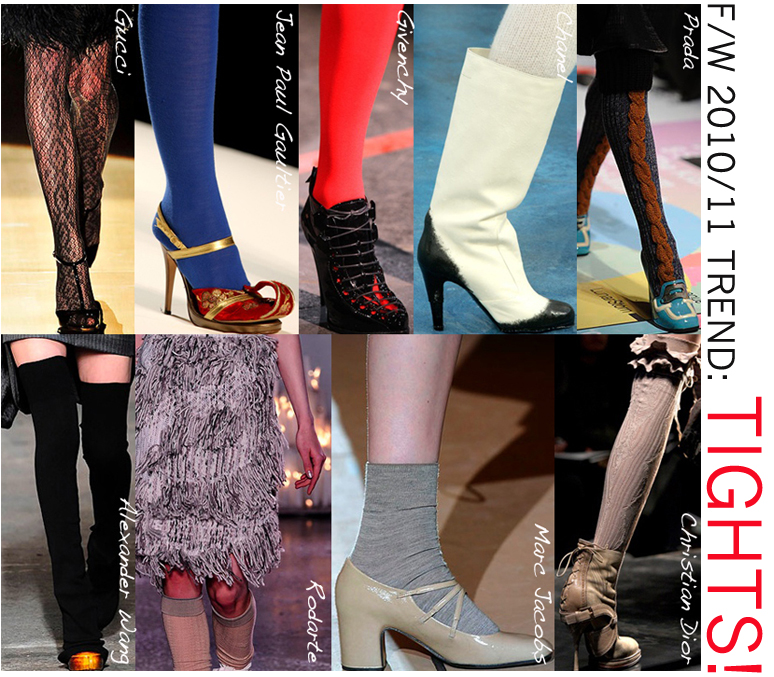 Fall 2010 runway fashion shows tights trend