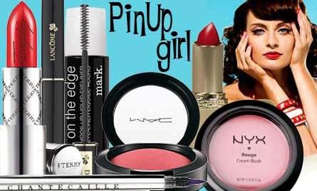 Retro pin up girl mad men makeup