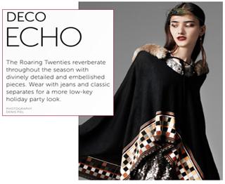 Larok precious poncho art deco roaring 20s fashion trend