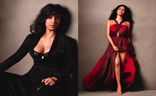 Kim kardashian glamour magazine editorial