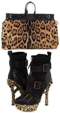Leopard purse bag handbag