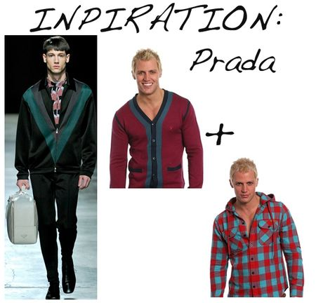 Mens prada layers
