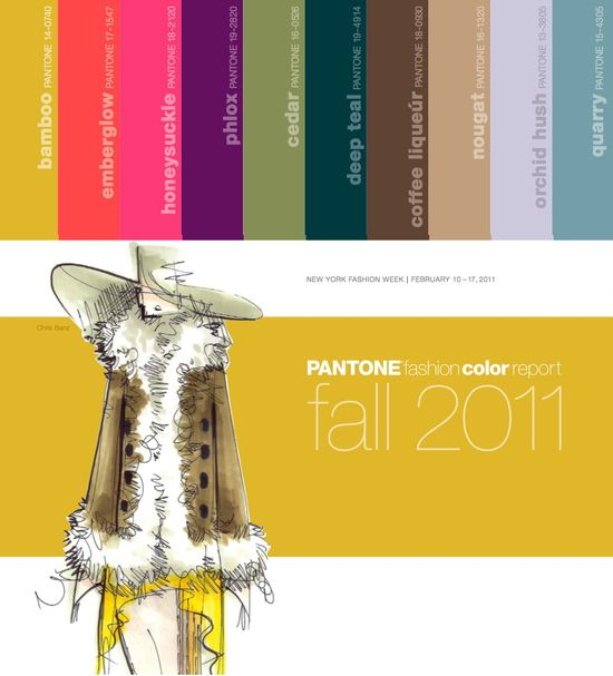 Fall 2010 pantone fashion color colour palette