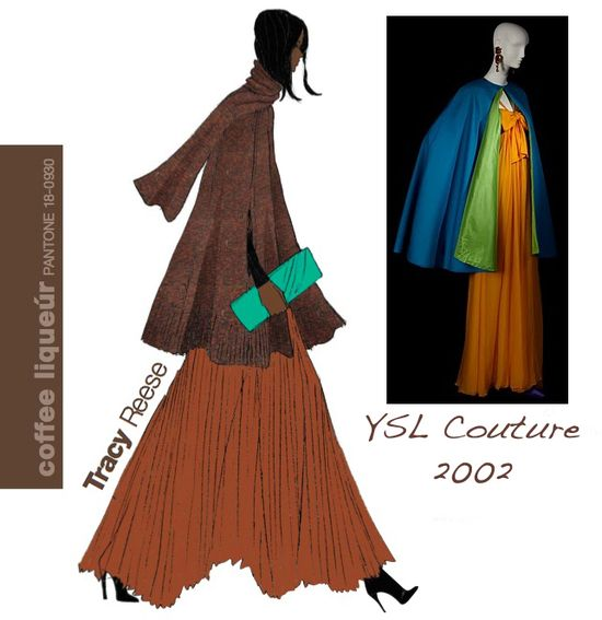 Fall 2010 pantone fashion colors tracy reese ysl