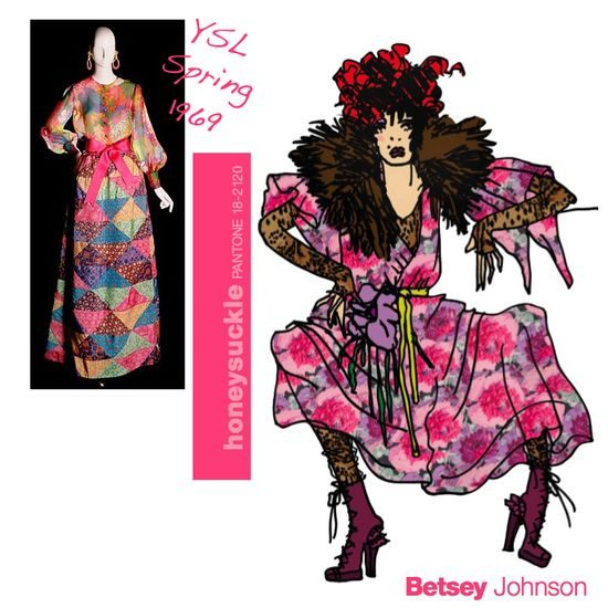 Fall 2010 pantone fashion color colours YSL betsey johnson