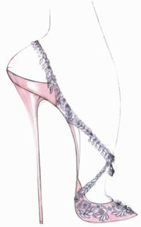 Casadei kate middleton wedding shoe sketch illustration