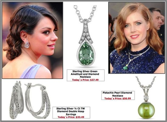 Mila kunis oscars 2011 red carpet jewelry jewellery