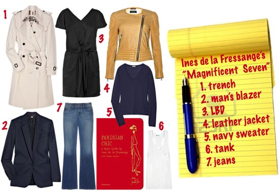 Ines de la fressange seven wardrobe must haves