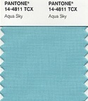 Pantone color of the year 2003 aqua sky pastel blue