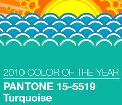 Turquoise pantone color colour of the year 2010