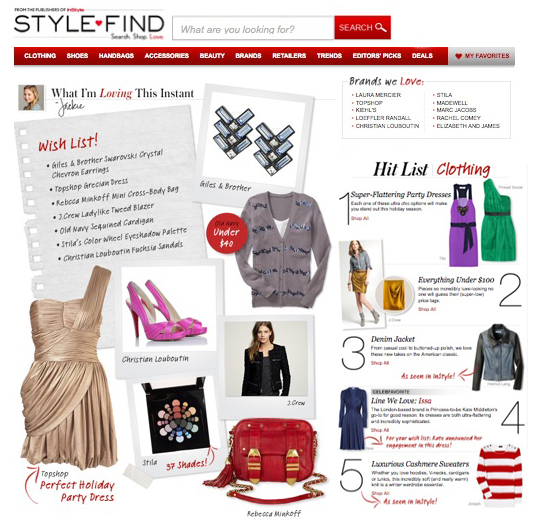 Stylefind instyle shopping fashion picks