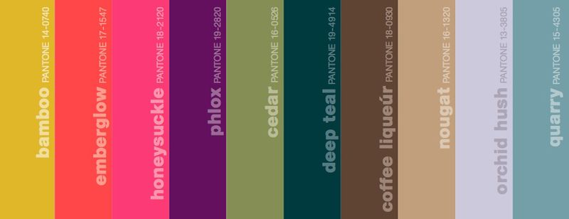 Fall 2010 pantone color colour palette