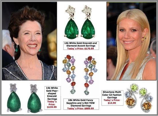 Annette benning gwyneth paltrow oscars jewelry jewellery