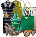 Bright green cole haan tote bag accessory