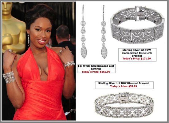 Jennifer hudson oscar jewelry jewellery
