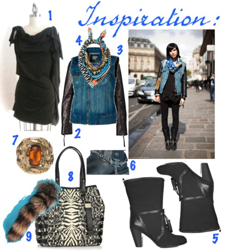 Streetfashion fashion denim leather