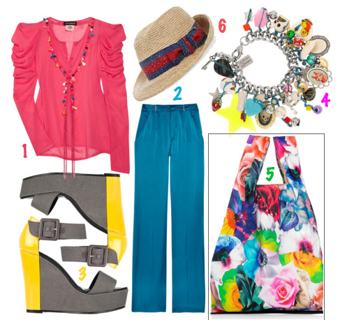 Colorful summer fashion trend accessories