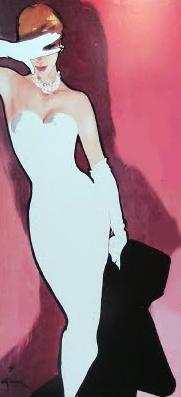 50s fashion illustration