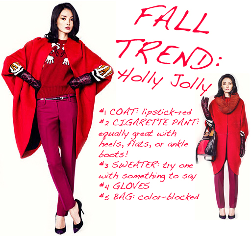 Fall fashion trend red