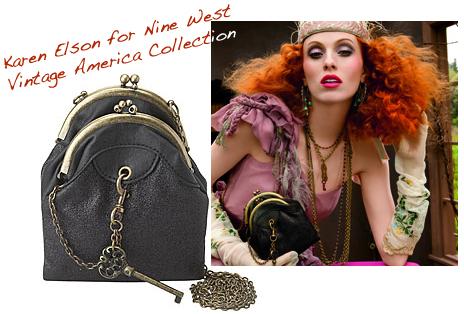 Karen elson nine west vintage bag purse