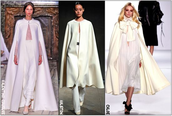 White capes fall fashion trend 2011