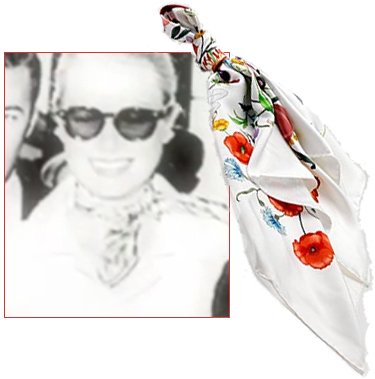 Gucci flora grace kelly scarf