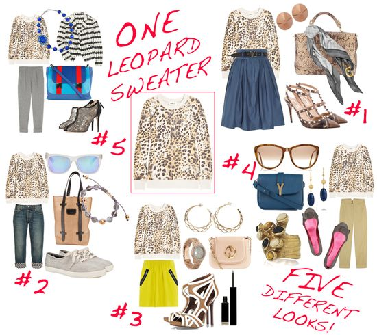 How to wear leopard sweater