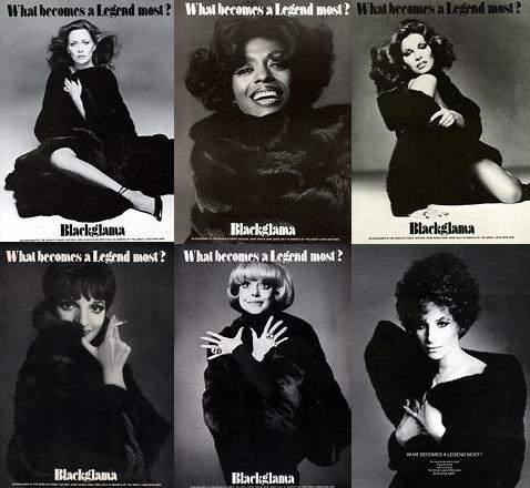 Blackglama ads 1970s barbra streisand faye dunaway