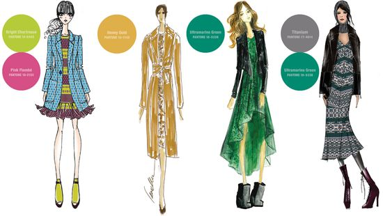 Fall 2012 pantone colors fashion sketches 1