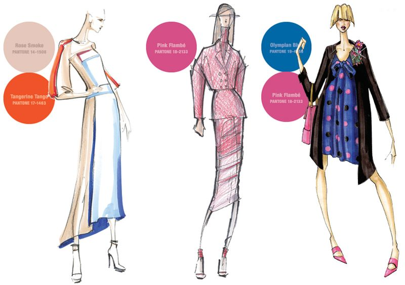 Fall 2012 pantone colors fashion sketches 3