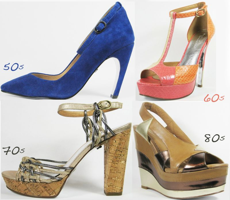 Decades modern vintage shoes footwear collection
