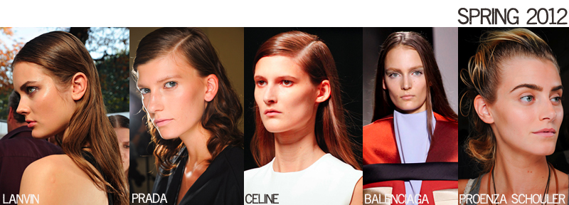 Spring 2012 runway hair beauty trends