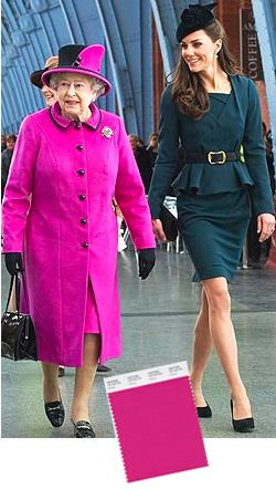 Queen elizabeth in cabaret pink