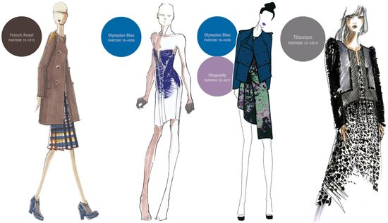 Fall 2012 pantone colors fashion sketches 2