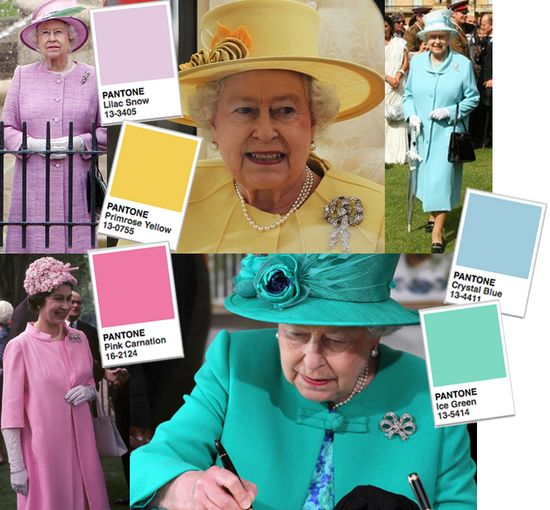 Queen jubilee colour guide swatches