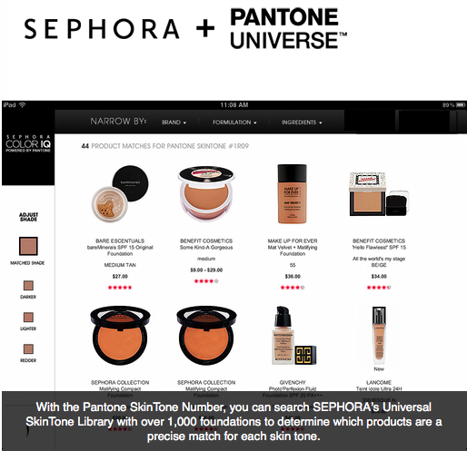 Sephora pantone color IQ1