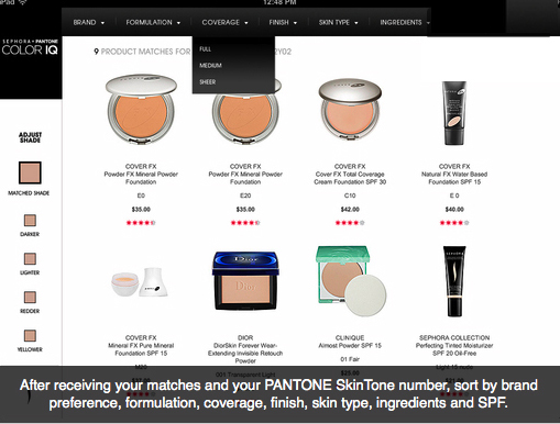 Sephora pantone color IQ2